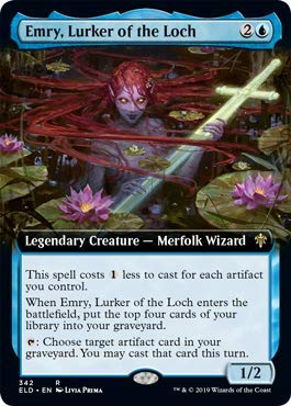 Magic: The Gathering - Emry, Lurker of The Loch - Foil - Extended Art - Throne of Eldraine