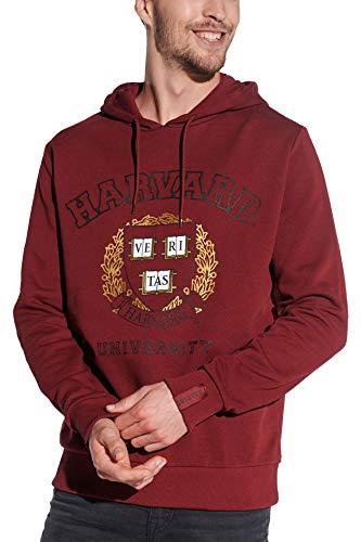 Course Herren Hoodie Original Druck Harvard Kapuzenpullover Sweatshirt Kapuze, Rot, S