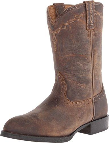 ARIAT Women's Heritage Roper Western Cowboy Boot, Distressed Brown, 8.5 Wide