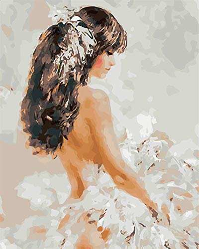 DIY pintura por números adultos retrato kits completos pintura al óleo por números figura artística dibujo decoración del hogar A10 40x50cm