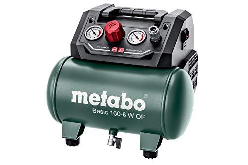 Metabo Kompressor Basic 160-6 W OF (Kessel 6 l, Max. Druck 8 bar, Ansaugleistung 160 l/min, Füllleistung 65 l/min, Max. Drehzahl 3500 /min, kompaktes Design) 601501000