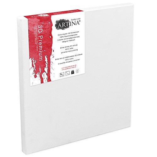 Artina Deep Edge Blank Canvas 80x100 cm Stretched Premium 3D Flat Art Painting Canvas Triple Gauche Primed