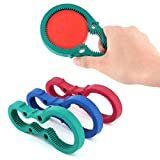 Parts Express 3in1 Container Bottle Jar Lid Can Opener Hand Easy Twist Kitchen Tool Silicon Jar Opener Screw Cap Jar Bottle Wrench Red, Green, Blue Random color (Multicolored)