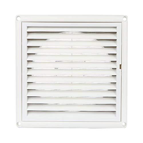 Xianglaa-cubierta de ventilación de aire, 1PC salida de aire de ventilación Cubierta Grill, Wall montado techo Vent, incorporado en pantalla de la mosca de malla de baño Ministerio del Interior, (blan