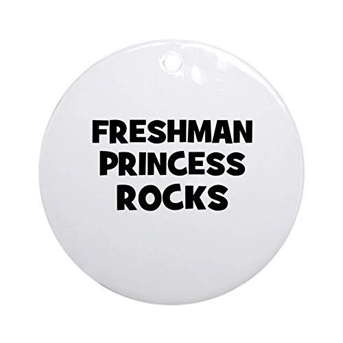EaYanery Freshman Princess Rocks Ornament (Round) Personalized ceramic Holiday Christmas Ornament Ideas 2019