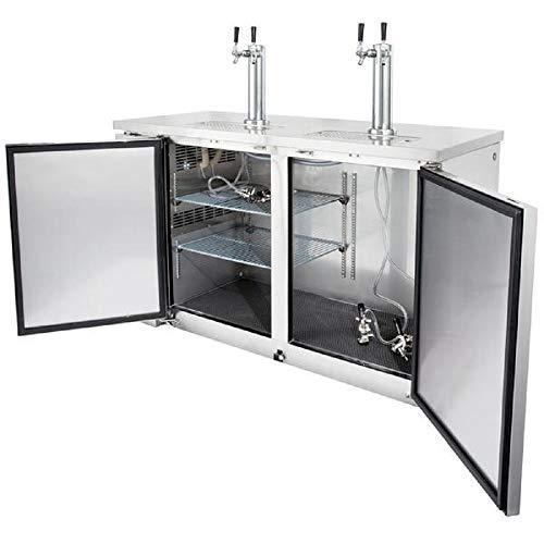Find Discount 60 Back Bar Kegerator Dual Taps Beer Dispenser Cooler Chiller Commercial Grade All St...