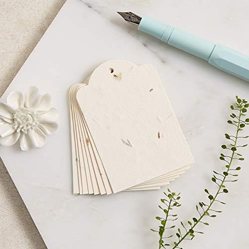 Angel & Dove 10 pflanzbare Wildblumensamen-Geschenkanhänger – Geschenkpapier, Wunschbaum, Gedächtnisbaum, Ballonanhänger, Hochzeit oder Beerdigung