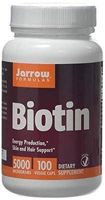 Jarrow Biotin (5000 mcg, 100 Capsules) from Jarrow FORMULAS