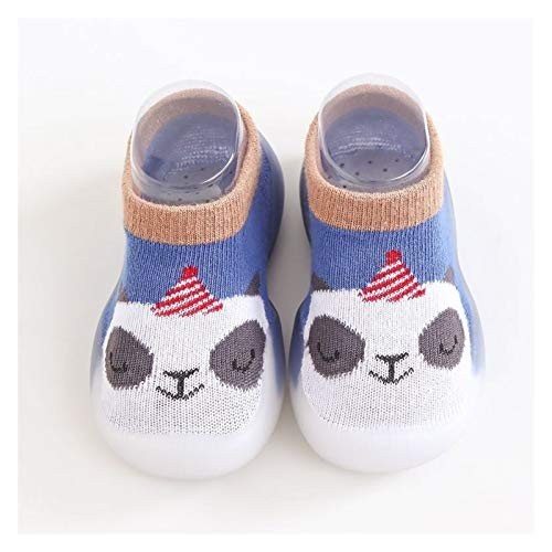 Youpin Baby strumpor skor halkskydd vår höst tecknat djur andningsbara skor baby flicka baby pojke mjuk TPE sula baby pojke vardagsskor (färg: blå blå anda, skostorlek: 6 12 månader)