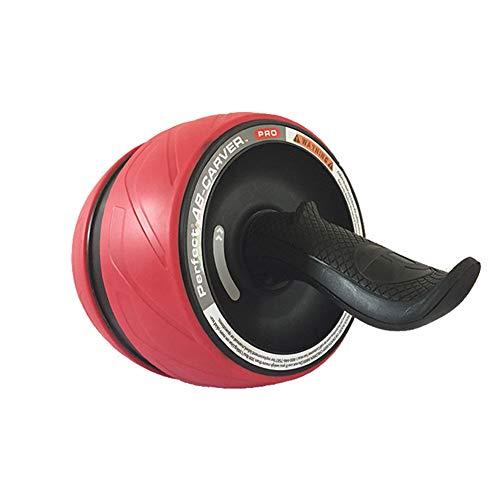 HFJLL Ab Rullo Addominale Rullo Abdominal Muscle Wheel Mute Home Fitness Equipment Colore Multiplo,Red