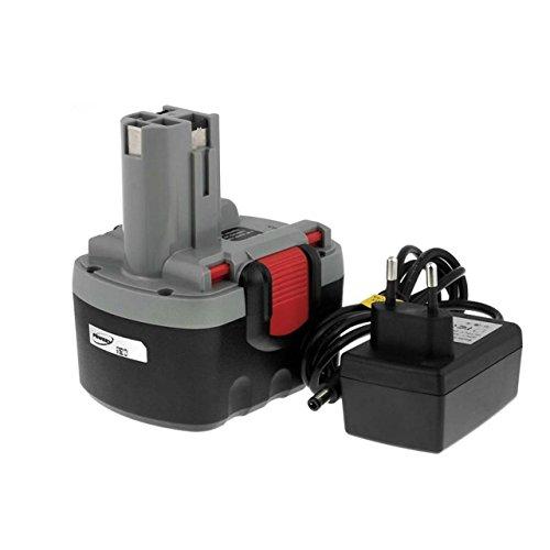 Powery Batterie pour Bosch Kombi GSB 14,4VE-2 O-Pack Li-ION Chargeur INCL, 14,4V, Li-ION [ Batterie Outil électroportatif ]