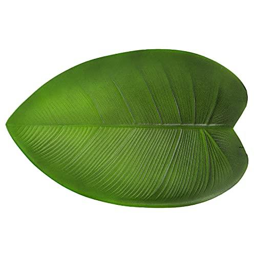 Curroxer 3 manteles individuales artificiales con forma de hojas tropicales, aislamiento térmico...