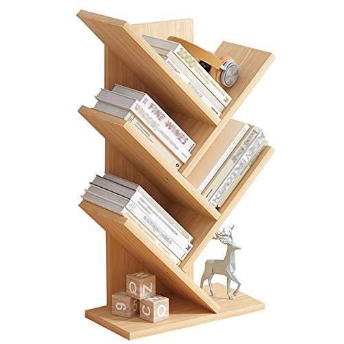 JKGHK Librerías Estantes para Libros de Escritorio, casillero de estantería con Forma de árbol artístico, Estante de Almacenamiento de Oficina en casa, para Libros, revistas, CD