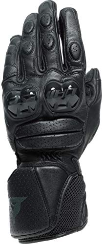 Dainese Impeto Mens Leather Motorcycle Gloves Black Black MD product image