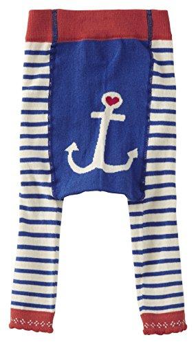 Piccalilly Collants en coton bio pour petite fille Style marin Sans pied Bleu - Bleu - 5 ans