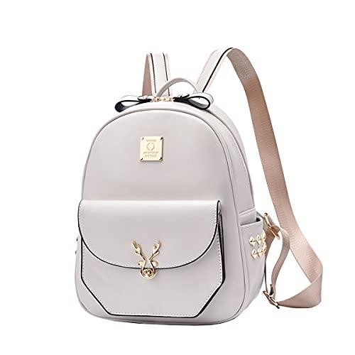 NIYUTA Bolsos mochila mujer moda vintage casual viaje escolares Bolsos blanco