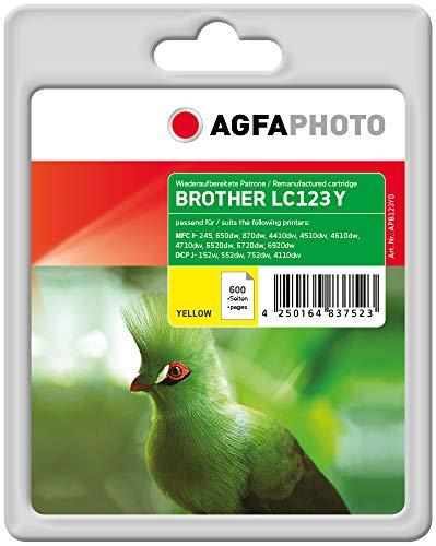 AgfaPhoto APB123YD Remanufactured Tintenpatronen Pack of 1