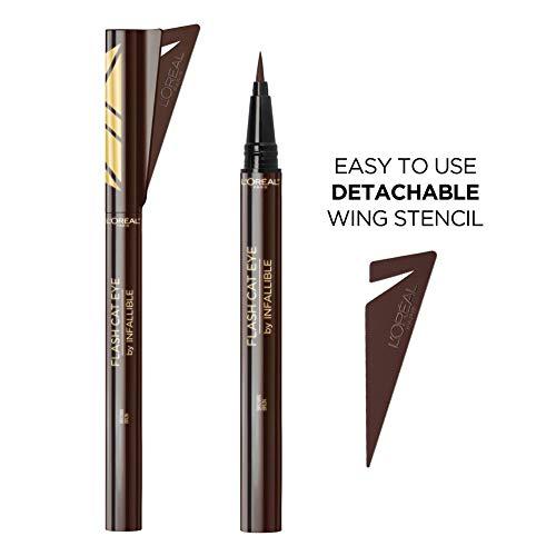 L'Oreal Paris Makeup Infallible Flash Cat Eye Waterproof Liquid Eyeliner, Brown