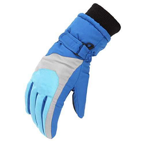 Yellow wang Kinder Skihandschuhe wasserdichte und Winddichte Schneehandschuhe Warme Handschuhe Winterhandschuhe für 6-11 Jahre Jungen Mädchen Skifahren Wandern Radfahren (Blau-1)