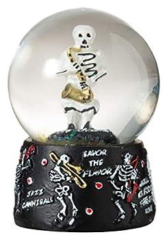 Artisan Owl New Orleans Skeleton Jazz Band 45mm Mini Souvenir Water Snow Globe