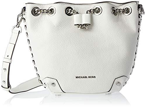 MICHAEL Michael Kors Alanis Small Bucket Bag - Optic White