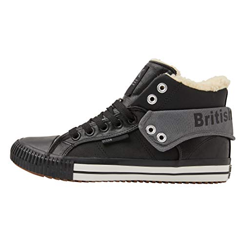 British Knights Herren ROCO Hohe Sneaker, Grau (Blk/Grey 02), 44 EU