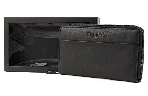 Bugatti Geldbörse Cosmos, 19cm, schwarz
