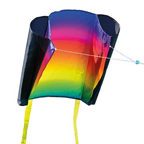 CIM Kinder-Drachen - Beach Kite Prism - Kitesurf Flugdrachen für Kinder ab 3 Jahren- 74x47cm - inkl. 40m Drachenschnur und Streifenschwänze