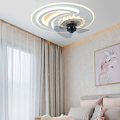MINGRT Ventilador De Techo LED con Lámpara Moderno, ventilador de techo con luz y mando a distancia Velocidad del VientoAjustable Regulable Lámpara de Techo para Dormitorio comedor sala de estar