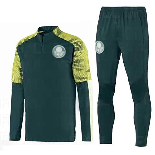 ZHWEI Traje Entrenamiento de fútbol Club de Adulto Camiseta de la Juventud de Manga Larga y Pantalones de Jogging BreathableTop QL0277 Traje Respirable (Color : Green, Size : S)