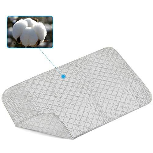 YUPPIE TONE Bügelmatte für Tisch Silber Faltbare tragbare XXL,80 * 140 cm