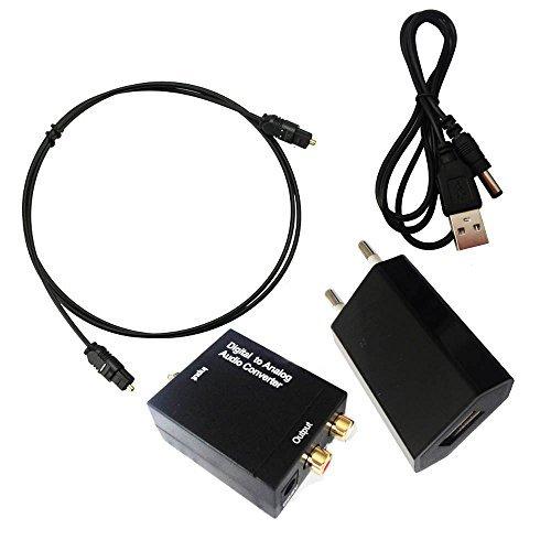 SK.N - Convertitore audio digitale da coassiale ad analogico RCA, fibra