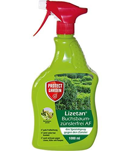 PROTECT GARDEN Lizetan Buchsbaumzünslerfrei AF, anwendungsfertiges Spray gegen den Buchsbaumzünsler, 1 Liter