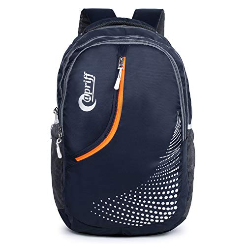 Capriff 32 L Casual Waterproof Laptop Bag/Backpack for Men Women Boys Girls/Office School College Teens & Students with Rain Cover (Nevy Blue)