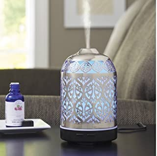 Better Homes and Gardens Essential Silver Oil Diffuser, Delicate Filigree (Delicate Filigree)