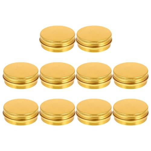 Angoily 20 Tarros de Lata de Aluminio Envases de Bálsamo Labial Recargables con Tapas 60ML Frascos Cosméticos Envases de Lata Redondos Vacíos para Crema de Velas