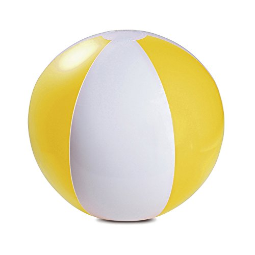 """eBuyGB Pack of 10 Inflatable Colour Ball - Beach Pool Game, Yellow, 22 cm/9"""""""