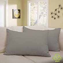 """AVI Set of 2 Pcs California King Size Waterproof - Dustproof Hypoallergenic Bug Proof Zipper Pillow Protector (20""""X36"""")-Dark Grey"""