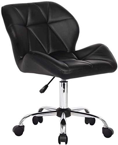 Schreibtisch Stühle, ergonomischer Bürostuhl Revolving Gaming Chair Studie Schreibtisch Stuhl Hebedrehstuhl Computer Stuhl Freizeit Sessel (Color : Black)
