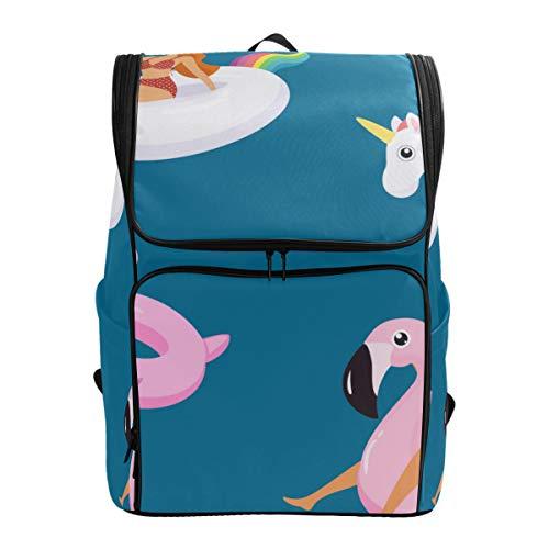 LISNIANY Rucksack,Sommer Muster Nette Mädchen modische Badeanzüge,Computertasche,Schultasche,große Kapazität