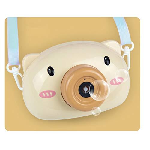 HAONAN Electric Music Bubble Machine Pet Bubble Machine Automática, Piggy Bubble Camera (Cerdo Amarillo)