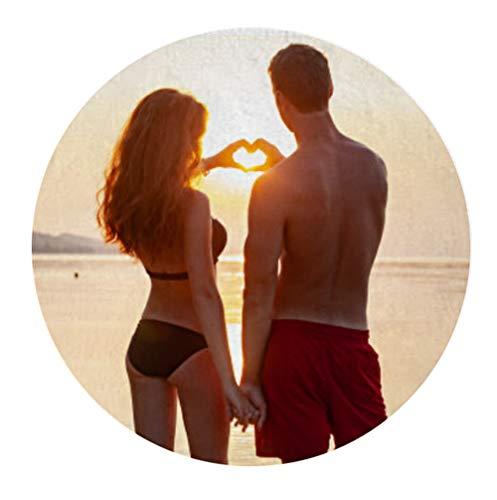 NANNUK - Toalla Redonda de Playa Personalizada