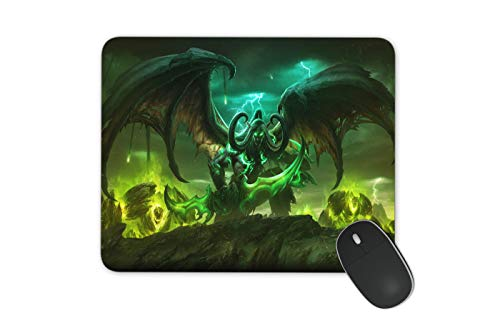 JNKPOAI World of Warcraft Mouse Pad Customized Rubber Mouse Pad Gaming Mouse Mat (World of Warcraft, Square)