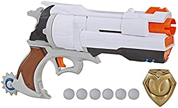 NERF Overwatch McCree Rival Blaster with Die Cast Badge & 6 Overwatch Rival Rounds