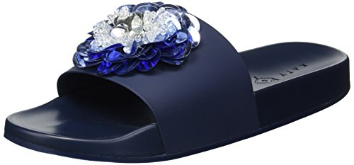 Katy Perry Women's The DARCE Slide Sandal, Indigo, 6 Medium US