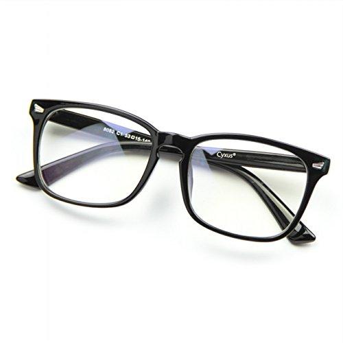 Cyxus Unisex Brille Ohne Stärke Retro Mode Nerd Brillen
