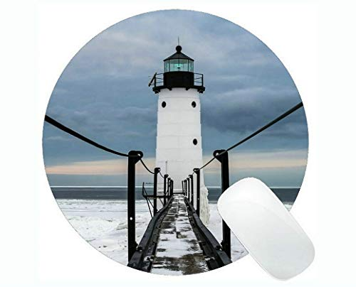 Yanteng Gaming Mouse mats,Lighthouse Sea Cliffs Water Away Road Gaming Mouse Pads