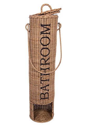 Vintage-Line Toilettenpapierspender Toilettenrollenhalter Klopapierspender Rattan Rattankorb
