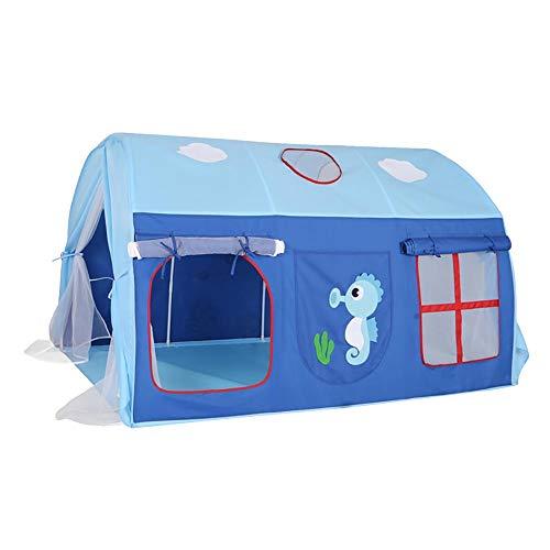 Tienda De Campaña para Niños - Casa De Juegos De Océano Azul Creativa, Casa De Juegos Portátil para Niños Espacio De Privacidad Casa De Juegos De Juguete para Interiores Y Exteriores 0329
