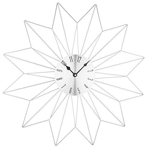 Pendule étoile - 50 x 4,5 x 50 cm - Métal - Argent